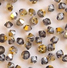 3mm Preciosa Crystal Bicone Crystal Aurum - 20